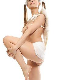 Pigtailed cute angel