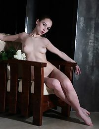Hot erotic model Sasha getting hotter